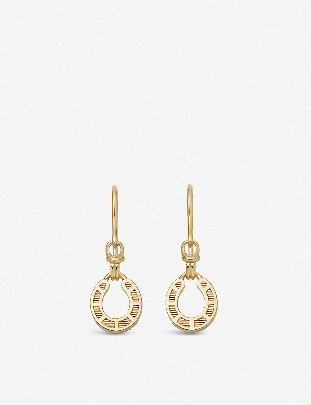 LINKS OF LONDON: Links of London x Ascot horseshoe 18ct gold-plated vermeil silver drop earrings