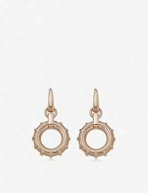 LINKS OF LONDON Brutalist 18ct rose gold-vermeil drop earring