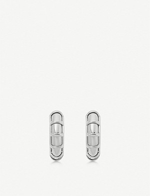LINKS OF LONDON Brutalist sterling silver small hoop earrings