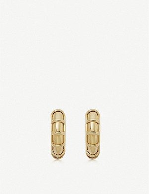 LINKS OF LONDON Brutalist gold vermeil small hoop earrings