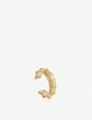 LINKS OF LONDON Brutalist 18ct yellow gold-vermeil ear cuff
