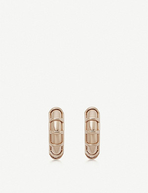 LINKS OF LONDON Brutalist rose gold vermeil small hoop earring