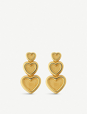 LINKS OF LONDON Endless Love 18ct yellow-gold vermeil earrings