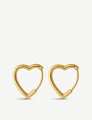 LINKS OF LONDON Endless Love 18ct yellow-gold vermeil hoop earrings