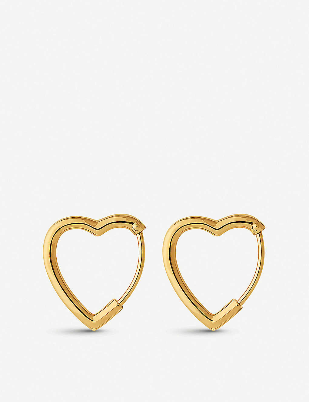 LINKS OF LONDON: Endless Love 18ct yellow-gold vermeil hoop earrings