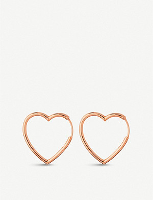 LINKS OF LONDON Endless Love 18ct rose-gold vermeil hoop earrings