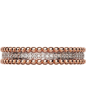 LINKS OF LONDON Effervescence 18ct rose gold and diamond band ring