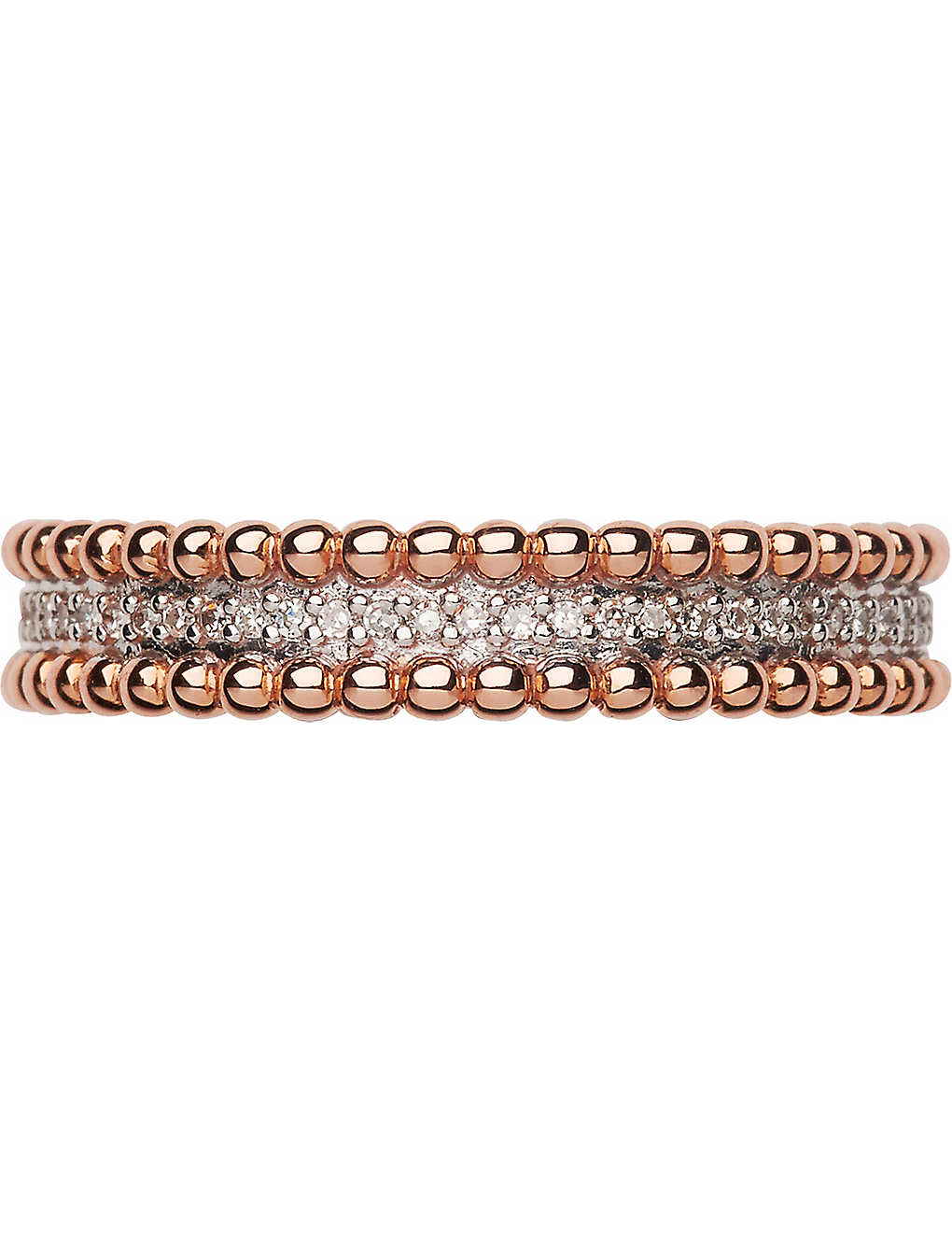 LINKS OF LONDON: Effervescence 18ct rose gold and diamond band ring