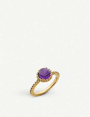 LINKS OF LONDON Effervescence Gems 18kt Yellow Gold Vermeil & Amethyst Ring