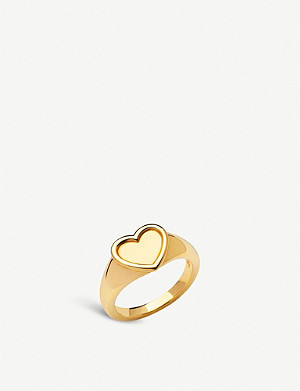 LINKS OF LONDON Endless Love 18ct yellow-gold vermeil signet ring