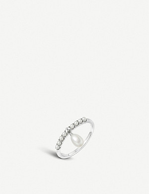 LINKS OF LONDON Orbs sterling-silver and pearl drop ring