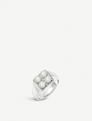 LINKS OF LONDON Orbs sterling silver and pearl signet ring