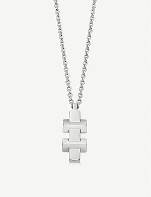 LINKS OF LONDON Brutalist sterling silver pendant necklace