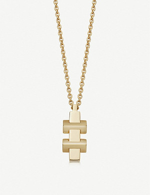 LINKS OF LONDON Brutalist yellow-gold vermeil necklace