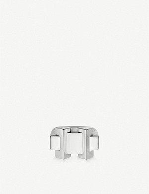 LINKS OF LONDON Brutalist sterling silver block ring