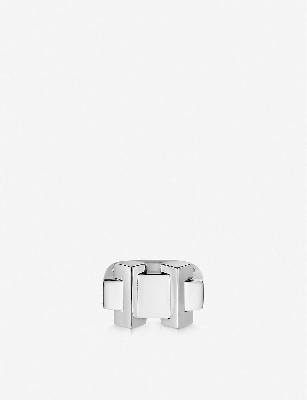 LINKS OF LONDON: Brutalist sterling silver block ring