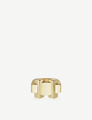 LINKS OF LONDON Brutalist gold-vermeil block ring