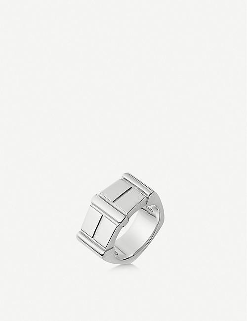 LINKS OF LONDON Brutalist sterling silver bar ring