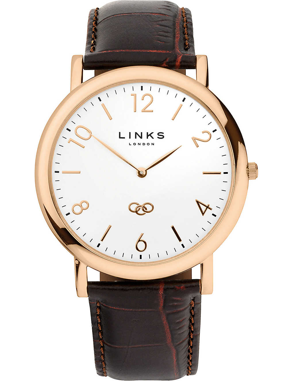 LINKS OF LONDON: Noble classic gold-plated stainless steel watch