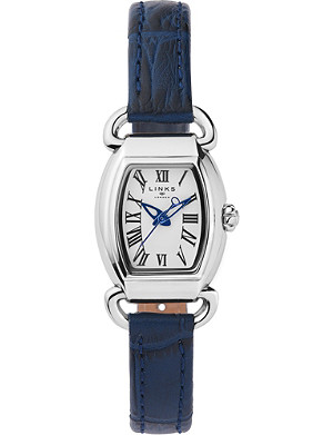 LINKS OF LONDON 6010.2158 Driver Mini Tonneau stainless steel and leather watch
