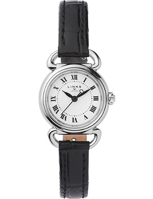 LINKS OF LONDON 6010.2169 Driver Mini stainless steel and leather watch