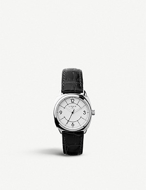 LINKS OF LONDON 60102698 Brompton stainless steel and leather strap watch