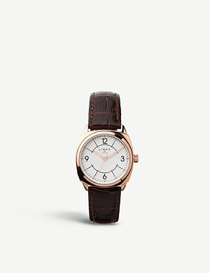 LINKS OF LONDON 60102699 Brompton rose-gold and crocodile-embossed leather strap watch