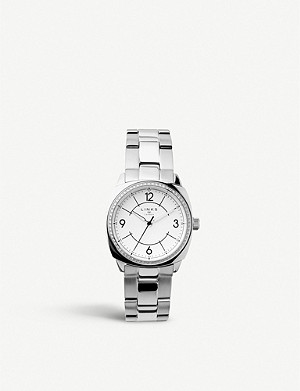 LINKS OF LONDON 60102701 Brompton stainless steel and crystal-embellished watch