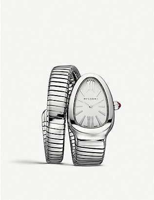 BVLGARI: Serpenti Tubogas stainless steel watch