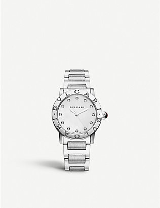 BVLGARI: BVLGARI-BVLGARI stainless steel and diamond watch