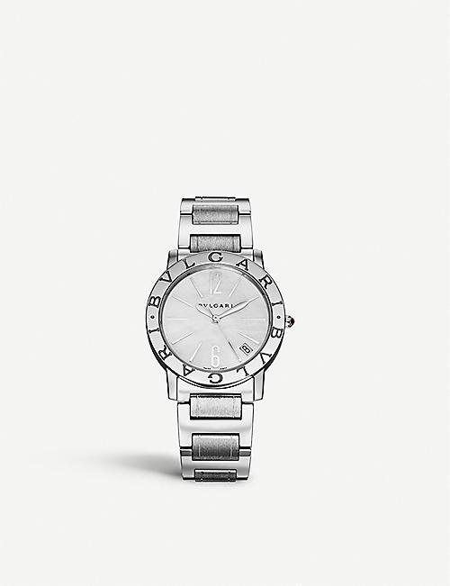 81a463dfbcd BVLGARI BVLGARI-BVLGARI stainless steel and diamond watch