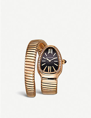 BVLGARI: Serpenti 18ct yellow-gold and diamond watch