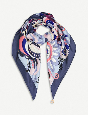 BVLGARI 'Pop Heart' shelley twill silk scarf
