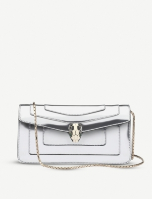 BVLGARI Serpenti Forever metallic leather shoulder bag