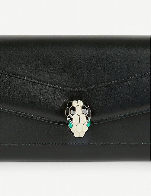 BVLGARI Continental leather wallet