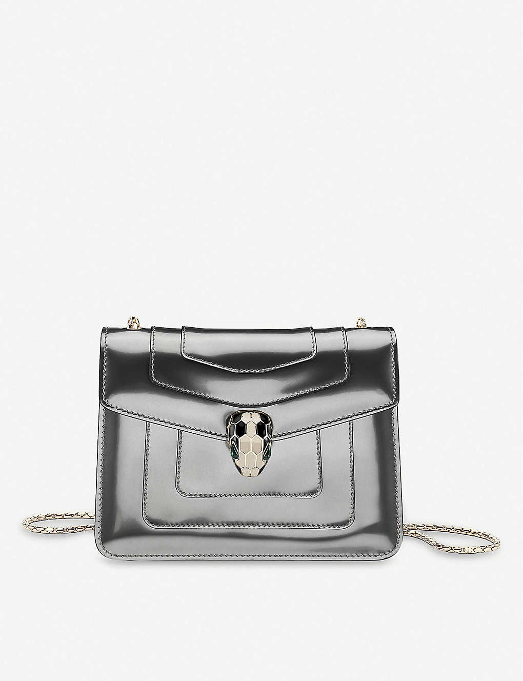 Bvlgari Patent Shoulder Bag