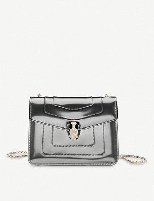 BVLGARI Serpenti Forever patent-leather shoulder bag