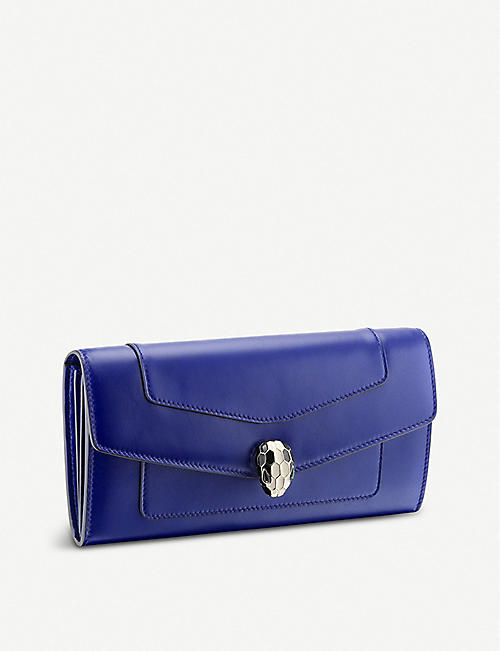 BVLGARI: Serpenti Forever leather chain wallet