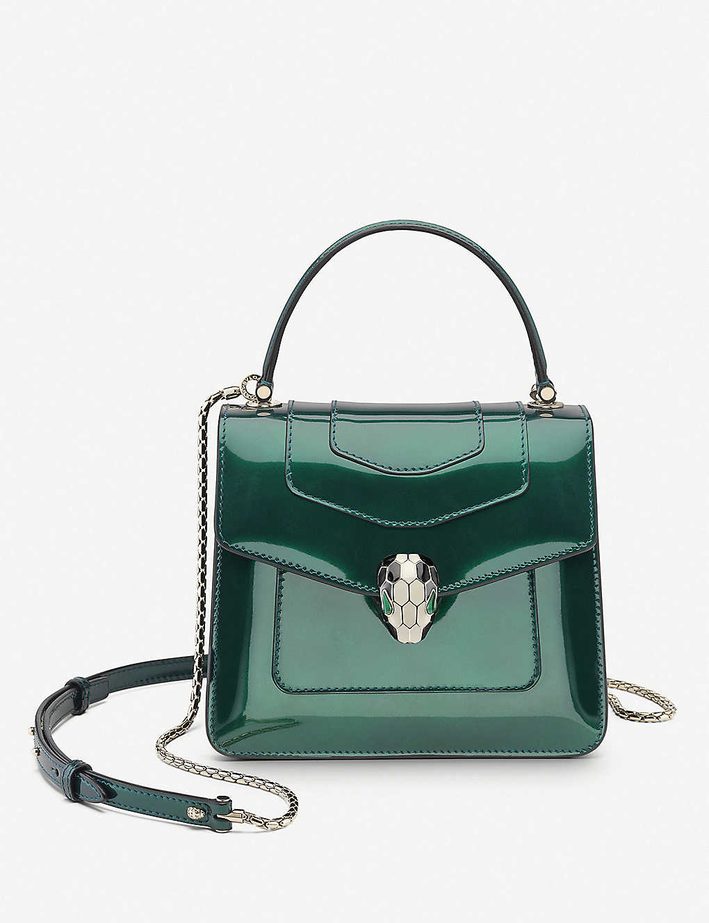 BVLGARI: Serpenti Forever leather top-handle bag