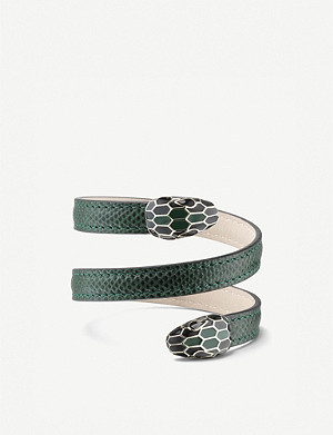 BVLGARI Serpenti Forever snakeskin-leather bracelet