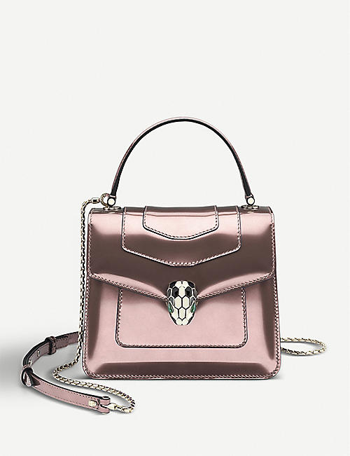 BVLGARI Serpenti Forever metallic-leather shoulder bag
