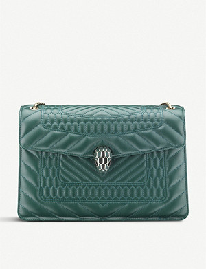 BVLGARI Serpenti Forever calf-leather shoulder bag