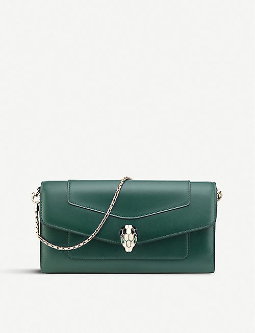 BVLGARI Serpenti Forever chain leather wallet