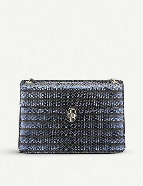 BVLGARI Serpenti Forever python-leather shoulder bag