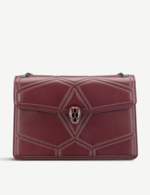 BVLGARI Serpenti Forever Quilted Stardust leather shoulder bag