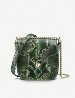 BVLGARI Divas' Dream snakeskin shoulder bag