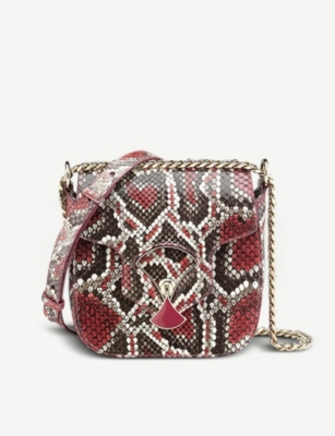 BVLGARI Divas' Dream mottled snakeskin shoulder bag