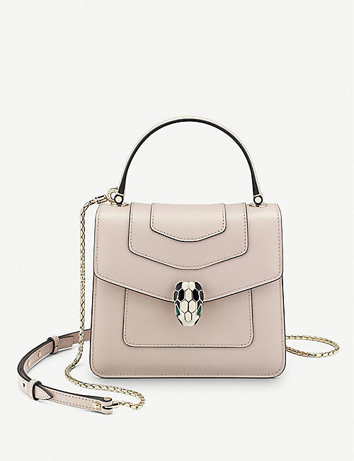 542d116088a4 BVLGARI Serpenti Forever leather small crossbody bag