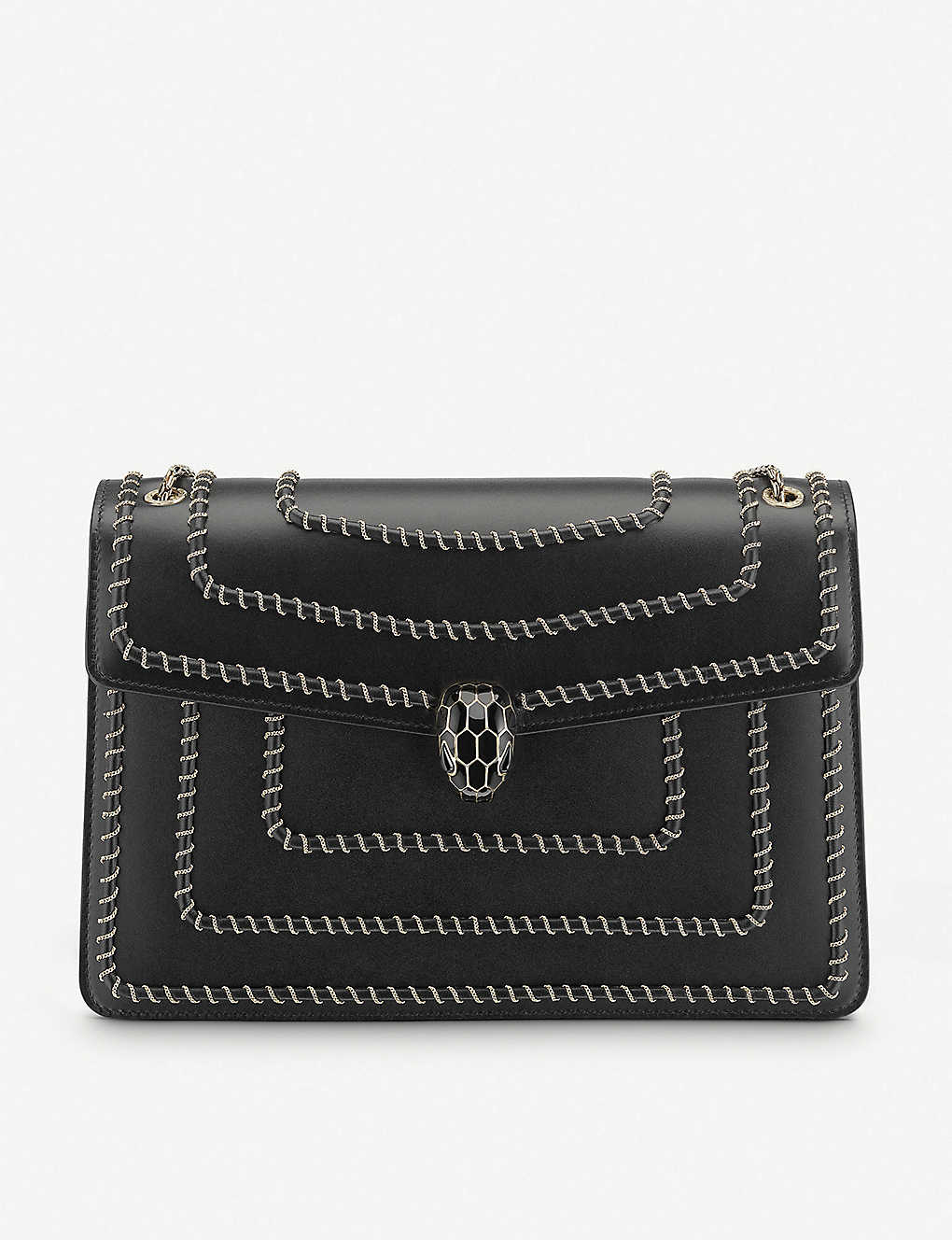 BVLGARI: Serpenti Forever woven chain leather shoulder bag