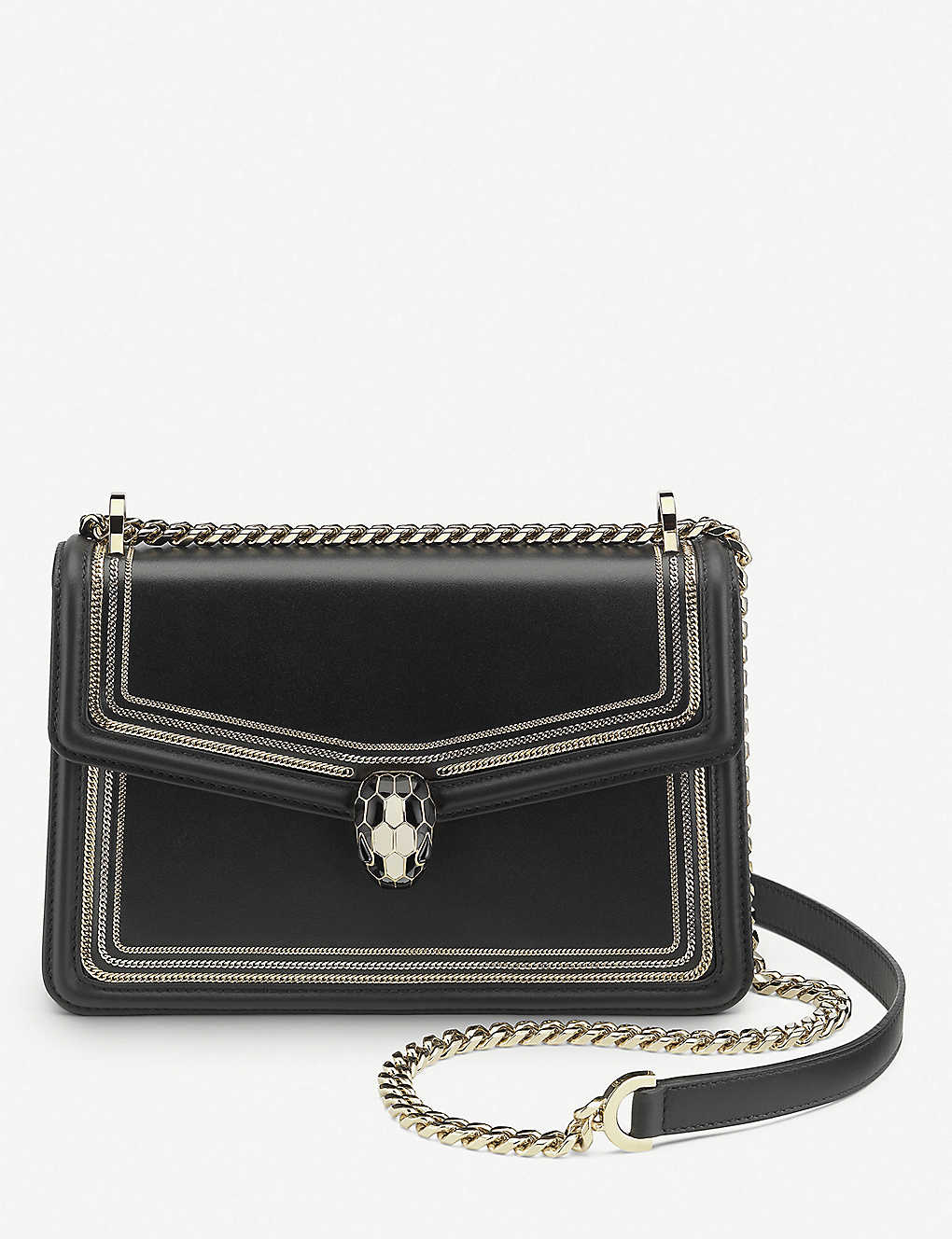 BVLGARI: Serpenti Forever three-chain leather shoulder bag